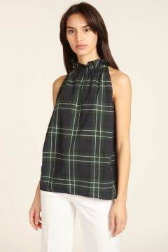 Green checked top