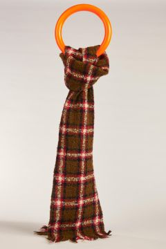 Double checked green scarf