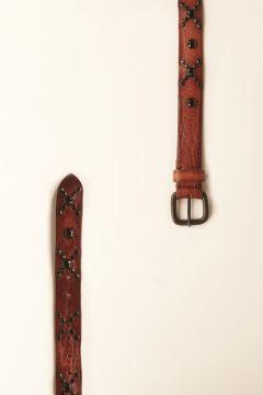 Belt with black swarovski decorations