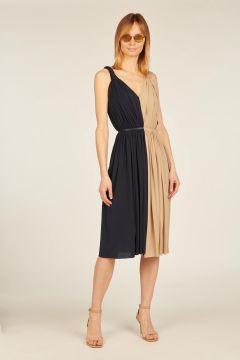 Bicolor midi dress
