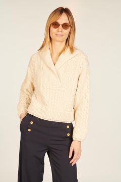 Ivory cropped pullover
