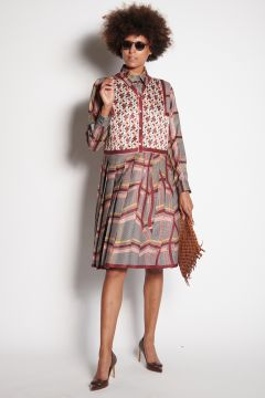 Silk dress with print