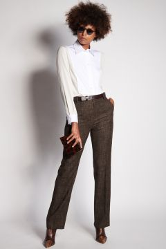 Brown wales trousers