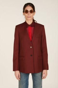 Burgundy v-neck jacket