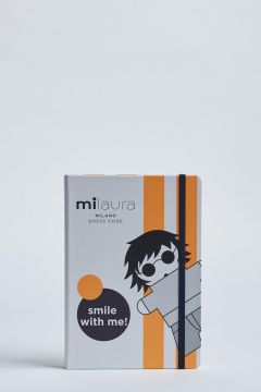 milaura notebook with two fluo bands