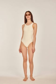 Ivory white one-piece swimsuit