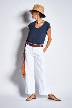 jeans a zampa con ampio risvolto