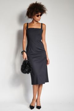 Black longuette dress