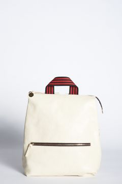 White leather Remi backpack