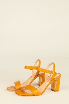 Memphis sandals in ocher yellow