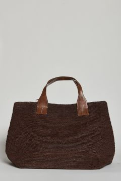 Large brown handbag