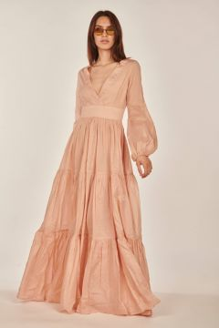 Nina long pink dress