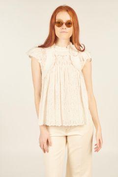 White Sangallo Ingrid Top