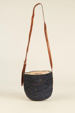 Navy Blue Saina bucket bag