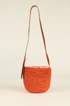 Orange Saina bucket bag
