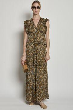 Maxi dress in georgette