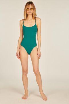 Sarah emerald green one-piece swimsuit