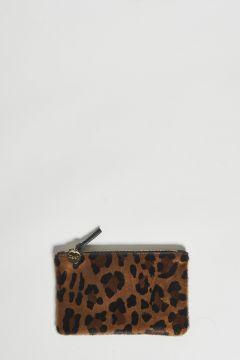 clutch in pelle stampa leopardo