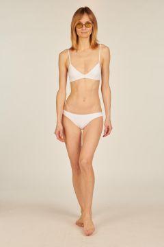 White Sofia triangle bikini