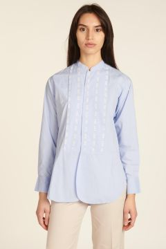 Korean shirt with white embroidery