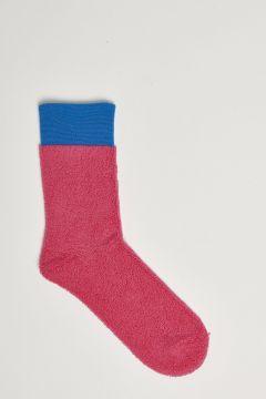 fuchsia sponge effect socks