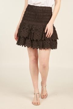 Sangallo Hazel Black Mini Skirt