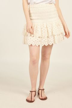Sangallo White Hazel Mini Skirt