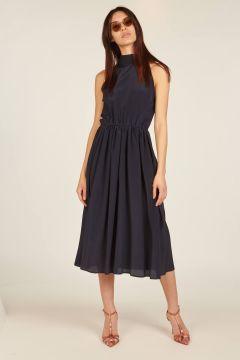 Taormina navy blue midi dress