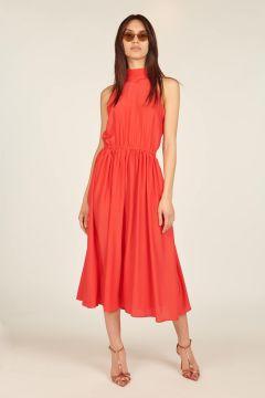 Red midi Taormina dress