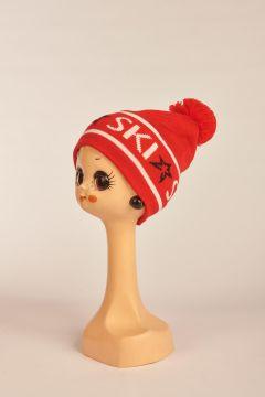 Red SKI Beanie hat