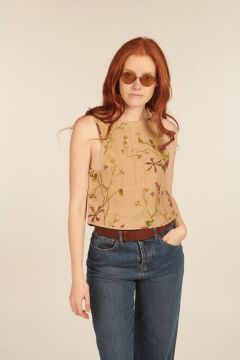Iseult top with stitching