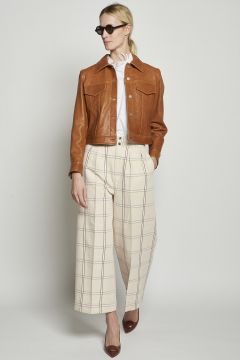 Checkered lakes trousers