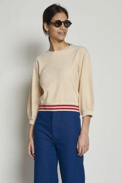 Cream cotton sweatshirt