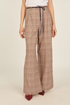 Oversized prince-of-wales trousers