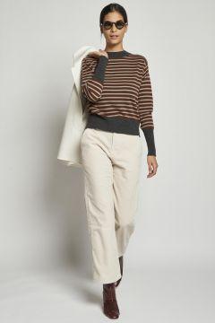 trousers in ivory corduroy corduroy velvet