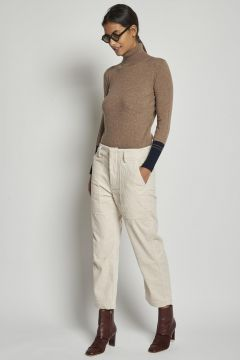 corduroy ivory trousers