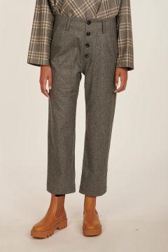 Pilot grey cropped flanel pants