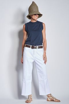 Wide cut white jeans