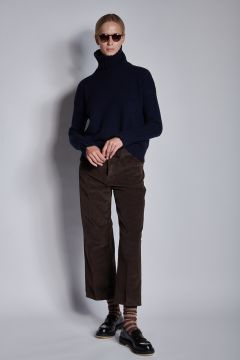 Chocolate corduroy trousers