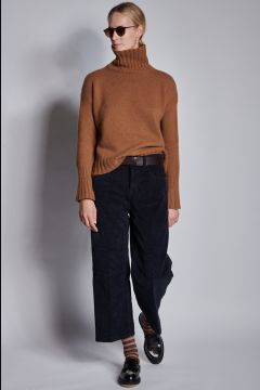 Dark blue corduroy trousers