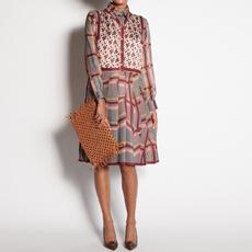 Silk dress with print